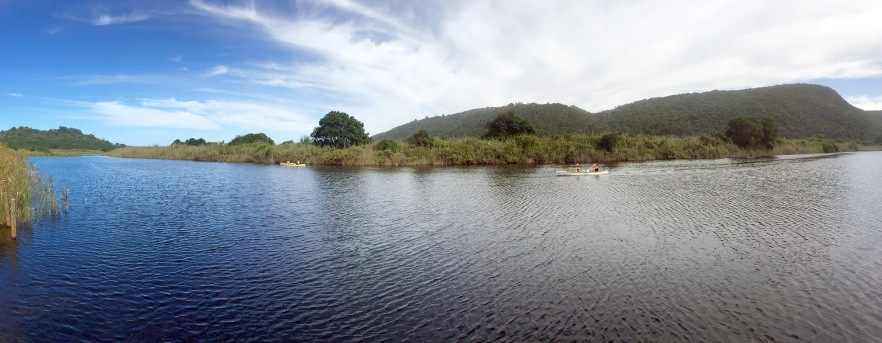 Canoeing in Wilderness Panorama